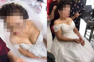 Cô dâu 75 tuổi ở Nghệ An khoe vòng một gợi cảm khiến dân mạng tranh cãi