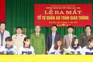 Hà Nam: Học sinh lập tổ Tự quản ATGT