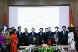 Lễ ký kết thỏa thuận hợp tác giữa Học viện Hành chính Quốc gia Việt Nam và Viện Nghiên cứu và Đào tạo hành chính công Lào