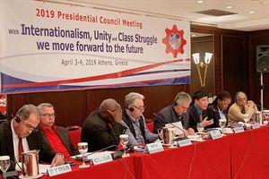 Đồng chí Bùi Văn Cường dự Hội nghị Chủ tịch Liên hiệp CĐ thế giới