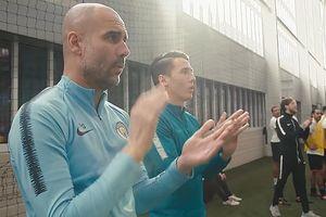 Quá tự tin về Man City, Guardiola đi huấn luyện cả… đội phủi