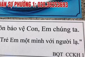 Chung cư TPHCM khuyến cáo 'không để trẻ một mình với người lạ'