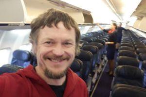 Bất ngờ khi là hành khách duy nhất trên chuyến bay của Boeing 737