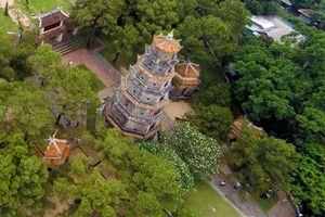 Ngôi chùa đẹp nhất xứ Huế nhìn từ trên cao
