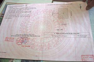 Phát hiện giấy chứng nhận quyền sử dụng đất giả tại Quảng Nam
