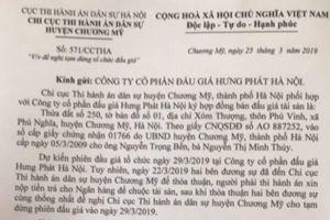 Giám đốc Cty CP Đấu giá Hưng Phát Hà Nội đùn đẩy trách nhiệm?