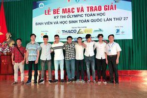 Bế mạc kì thi Olympic toán học SV-HS toàn quốc lần thứ 27