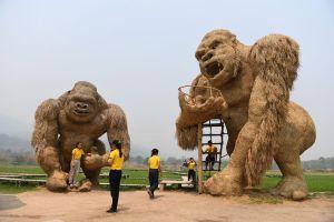 King Kong bằng rơm và cuộc đua tuần lộc ở Phần Lan vào top ảnh tuần