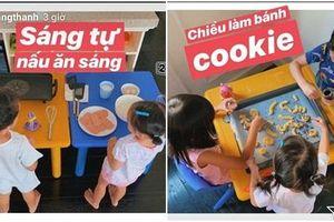 Không phải con nhà giàu là được nâng như trứng, 'cậu ấm - cô chiêu' nhà Tăng Thanh Hà đã biết tự vào bếp nấu ăn