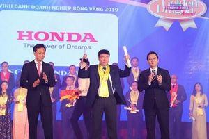 Honda Việt Nam nhận giải thưởng Rồng Vàng lần thứ 14