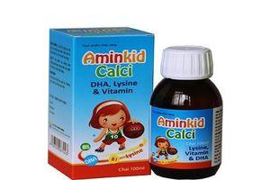 Khuyến cáo NTD không mua thực phẩm chức năng Aminkid Calci trên một số website