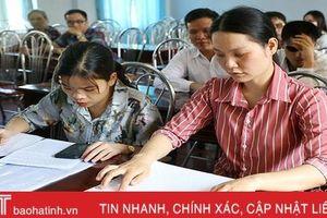 Hội Người mù Hà Tĩnh thi hội viên giỏi và đọc, viết chữ Braille