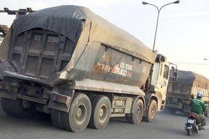 Xe ben cơi thùng, chở 'có ngọn' tung hoành QL1K
