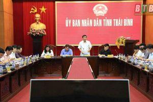 Thái Bình: UBND tỉnh nghe tiến độ triển khai dự án đầu tư xây dựng tuyến đường bộ ven biển