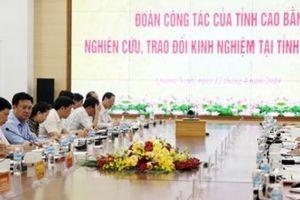 Cao Bằng học kinh nghiệm tinh gọn bộ máy, hút đầu tư của Quảng Ninh