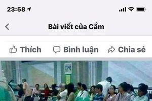 Hình ảnh xếp dép chờ khám bệnh ở BV Bạch Mai là giả