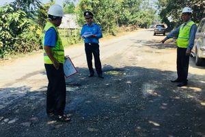 Khẩn trương xử lý hư hỏng trên Quốc lộ ủy thác Quảng Ngãi