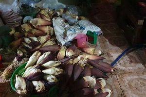Rùng mình cơ sở ở Sài Gòn 'phù phép' hơn 2 tấn ngó sen, bắp chuối bằng hóa chất độc hại