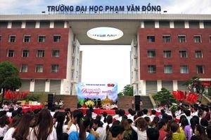 Quảng Ngãi: Trường Đại học Phạm Văn Đồng gặp mặt chúc mừng năm mới Bunpimay sinh viên Lào