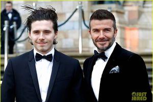 Cha con danh thủ David Beckham diện trang phục ton sur ton chất lừ