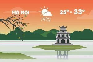 Thời tiết ngày 13/4: Hà Nội mưa rào làm gián đoạn ngày nắng 33 độ C