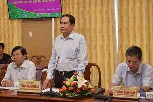 Đồng chí Trần Thanh Mẫn thăm và làm việc tại Đồng Tháp