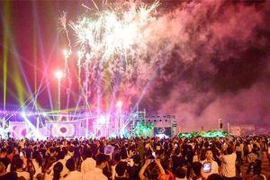 CLIP: Hàng vạn người 'mãn nhãn' với màn pháo hoa trong đêm khai hội Đền Hùng 2019
