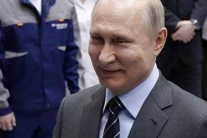 Thu nhập của Tổng thống Putin giảm một nửa trong năm 2018