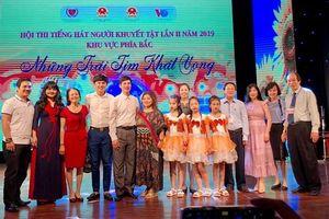 Những trái tim khát vọng' - Hội thi tiếng hát người khuyết tật lần thứ II khu vực phía Bắc