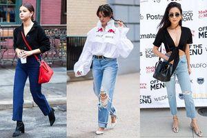 Quần jeans cạp cao cũ rồi nhưng loạt biến tấu mới này sẽ khiến bạn 'mê tít'