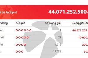 Kết quả Vietlott: Tấm vé trúng hơn 44 tỷ đồng được phát hành tại đâu?