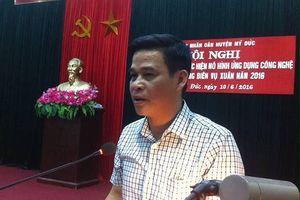 Hà Nội: Ông Đặng Văn Triều điều hành hoạt động của UBND huyện Mỹ Đức