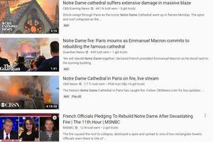 YouTube 'gán' cháy Nhà thờ Đức Bà Paris với vụ khủng bố 11/9