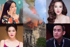 'Bàng hoàng và nghẹn lòng khi thấy Nhà thờ Đức Bà Paris chìm trong biển lửa'