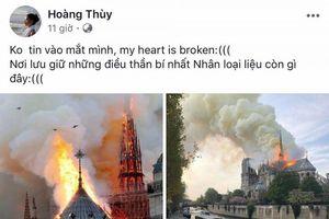 Sao Việt bàng hoàng trước tin nhà thờ Đức Bà Paris cháy