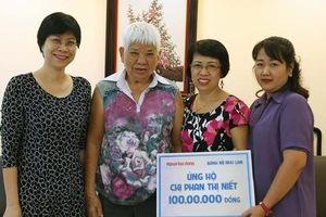 Cơ sở Như Lan tặng 100 triệu đồng cho gia đình bà Niết