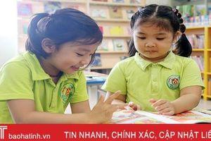 Trải nghiệm đọc sách tại Thư viện Hà Tĩnh của trẻ mầm non Trí Đức