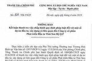 Công ty CP Phát triển Đầu tư Thái Sơn Bộ Q.P: Nhiều sai phạm cần được điều tra làm rõ