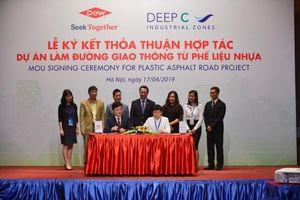 Triển khai dự án xây dựng đường giao thông từ phế liệu đầu tiên tại Việt Nam