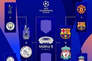 Lịch thi đấu vòng bán kết Champions League 2018/19