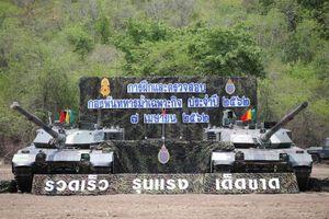 Hoành tráng cuộc tập trận của tiểu đoàn kỵ binh Thái Lan