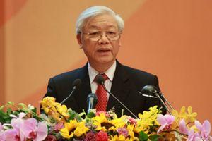 Tổng Bí thư, Chủ tịch nước Nguyễn Phú Trọng chúc mừng lãnh đạo Triều Tiên