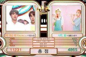 'Boy With Luv' 'oanh tạc' và hốt cúp tại Music Bank, BTS gấp đôi điểm đối thủ BOL4