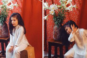 Bộ ảnh 'Thiếu nữ bên hoa huệ' với biểu cảm 'không đỡ nổi' của bé gái Hà Nội
