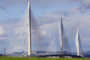 Scotland: Cận cảnh cầu dây văng dài nhất trên sông Forth 2,7km