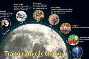 Bạn có biết tên gọi của trăng rằm trong từng tháng?