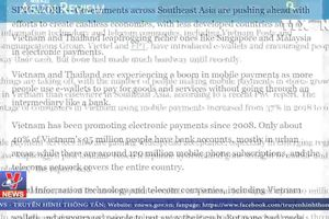 Việt Nam vượt Singapore, Malaysia trong thanh toán điện tử