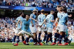 Đòi nợ thành công Tottenham, Man City trở lại ngôi đầu Ngoại hạng Anh