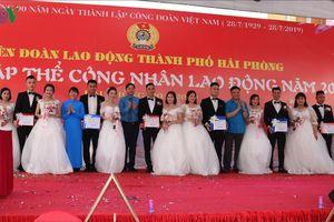 Rực rỡ lễ cưới tập thể của công nhân lao động ở Hải Phòng