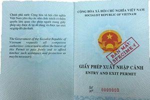 Xin cấp lại giấy phép xuất nhập cảnh thế nào?